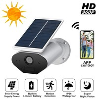 Security Monitoring IP Camera Wireless WiFi Solar Outdoor Waterproof Infrared Sensor PIR Detection HD Home Safety Camera