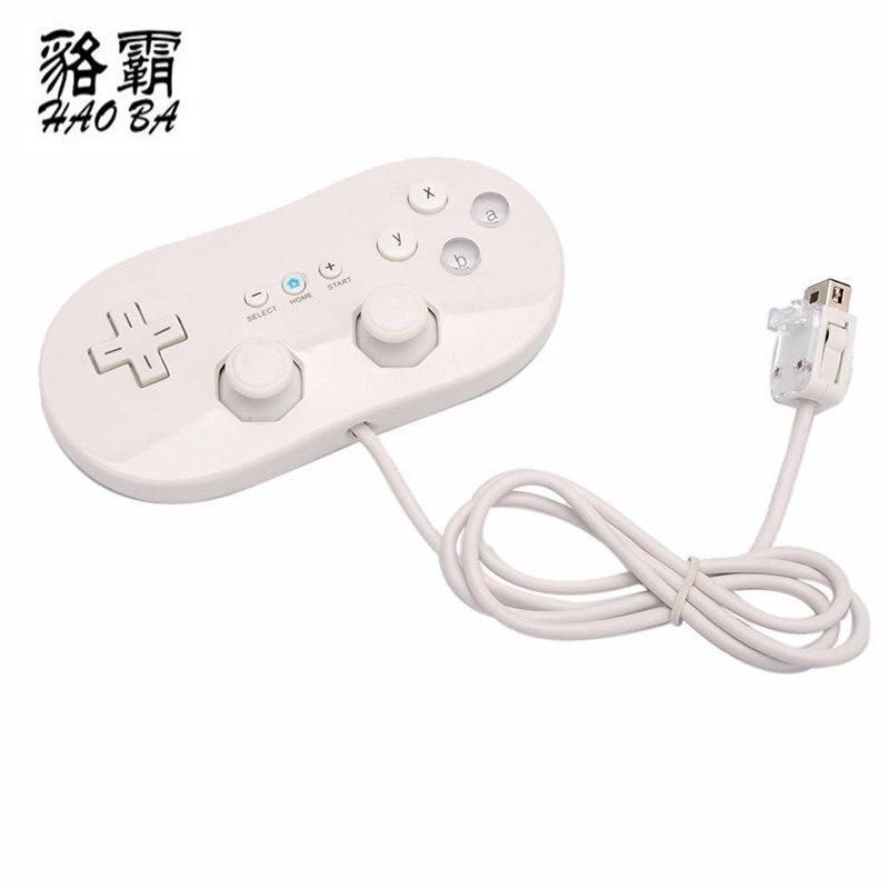 HAOBA Filaire Classique Contrôleur hôte de Jeu Joystick Gamepad Contrôleur Pour Wii 1 À Distance Console Vidéo Jeu blanc/noir