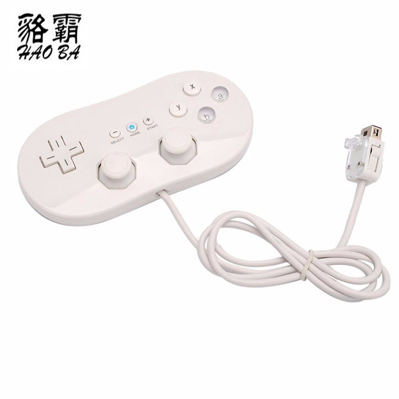 HAOBA Wired Classic Controller host Gaming Joystick Gamepad Controller For Wii 1 Remote font b Console