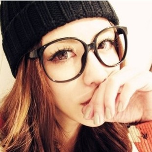 42544616781 2014 new Korean style young girl s retro big round black frame glasses  women fashion decorated glasses tide oculos