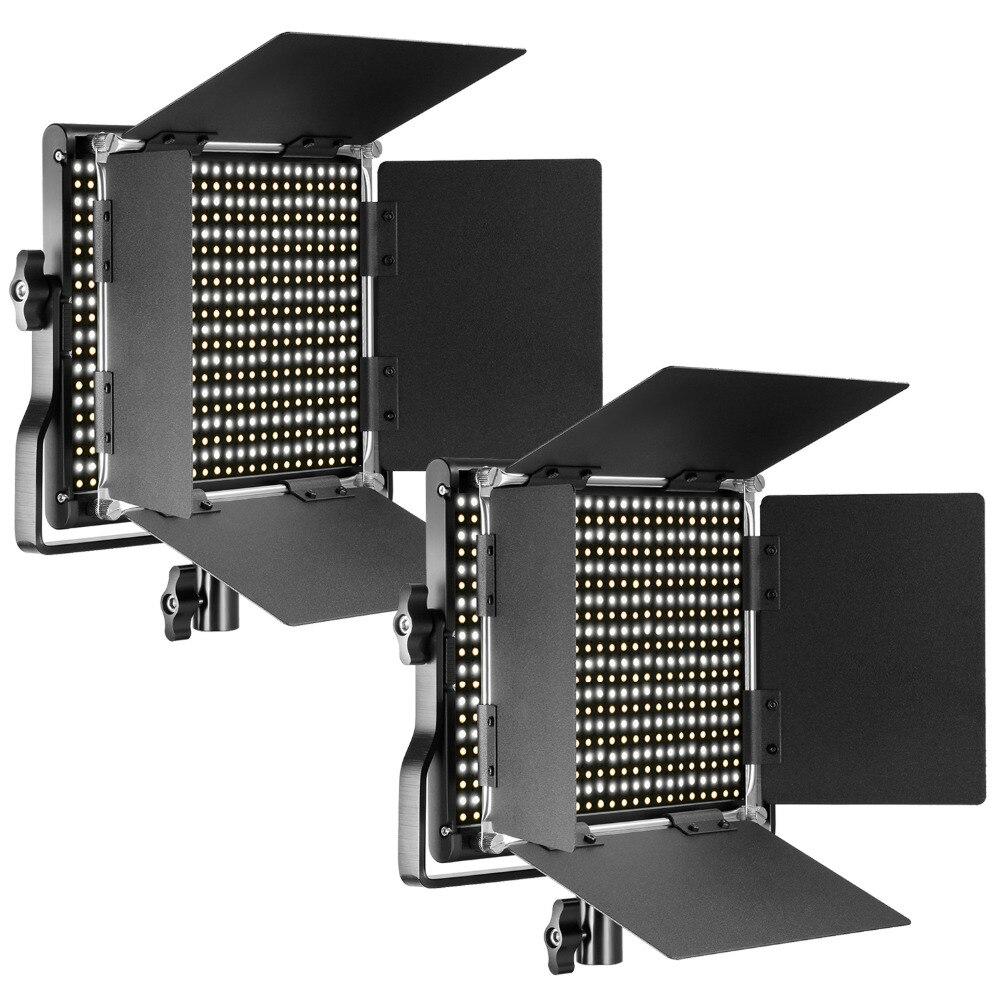 Neewer 2 пакеты Профессиональный металл Двухцветный затемнения 660 светодиодный свет для студии, YouTube, фотографии