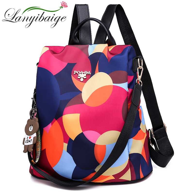 Fashion Multifunction Backpack Women Oxford Bagpack Female Anti Theft Backpack School Bag For Teenager Girls Sac A Dos Mochila