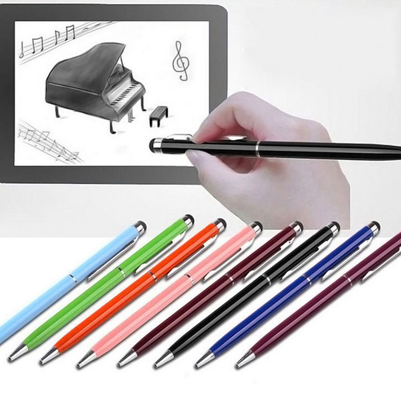 5pcs 2in1 Touch Screen Stylus Pen+Ballpoint Pen For IPad IPhone Samsung Tablet Smartphone Radom Colors Durable