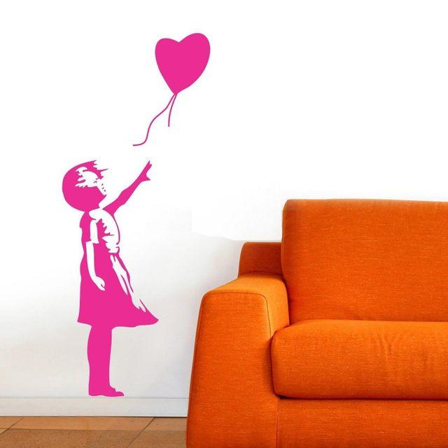 Banksy Wall Decal, Balloon Girl Inspired   Banksy Vinyl Wall Art Sticker