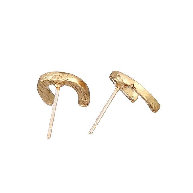 Купить женские серьги гвоздики «подкова удачи» 12 пар