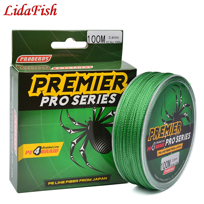 5 color 100M Super Strong Braided Wire Fishing Line 100% PE Material Multifilament  For Fish Rope