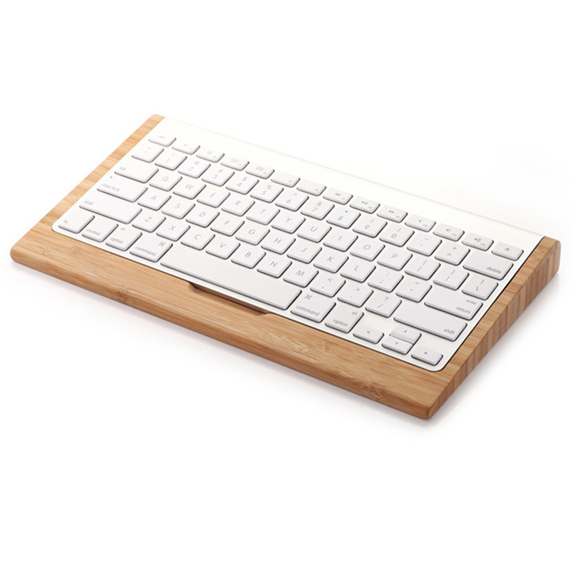 Soporte De Madera De Bambú Para Apple Imac 1st Soporte De Teclado Inalámbrico Bluetooth Para Ordenador De Escritorio Mac Pro El Buen Gusto