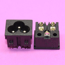 Wholesale high quality 250V 2.5A 3 Pins IEC320 C6 Male Plug AC Power Inlet Socket Connector