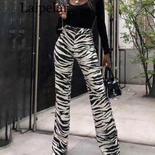 Laipelar Fashion Zebra Animal Print Wide Leg Pants