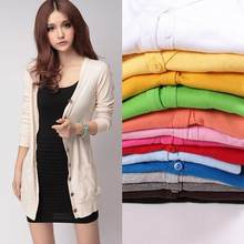 Wanita Cardigan Gadis Sweater College Semi Permen Warna Lengan Panjang Imut Kawaii Sweater Cardigan Wanita Jaket Wanita(China)