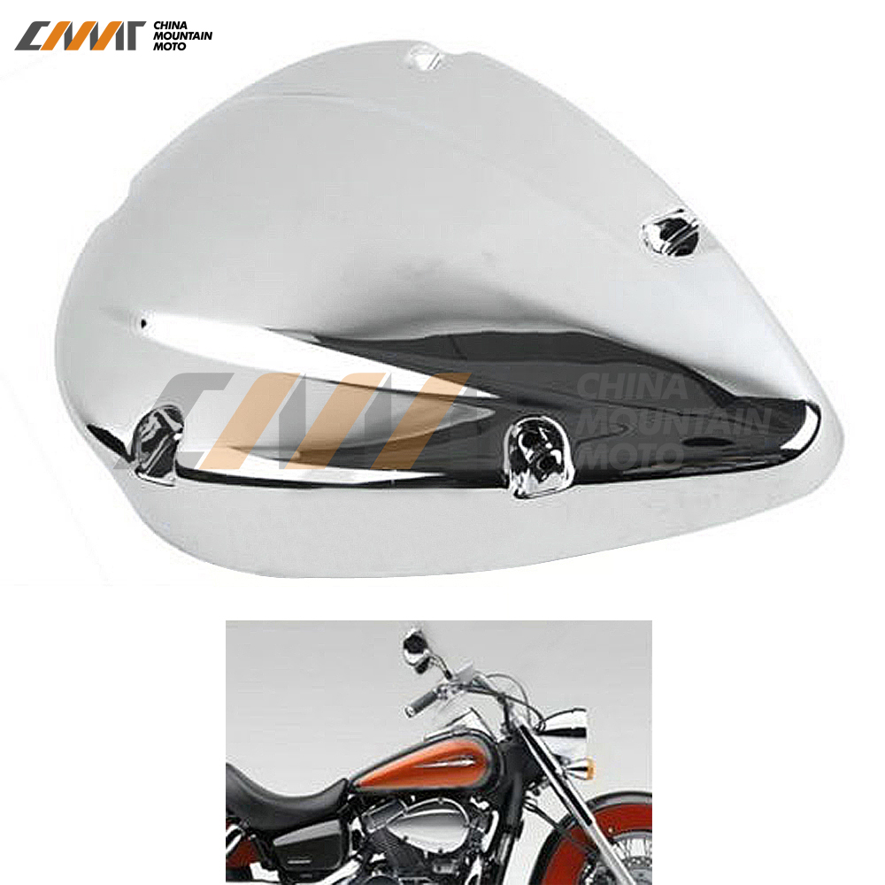 Chrome Air Cleaner Filter Cover case for Honda Shadow ACE VT VT400 VT750 2004-2012 motorcycle 16 5 cm saddle bag support bar mount bracket for honda shadow ace vt vt400 vt750