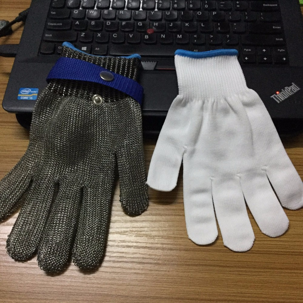 pure steel wire anti cut gloves