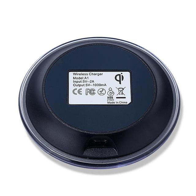 HAISSKY Mini Qi Wireless Charger USB Charging Pad For Samsung Galaxy S8 S8 Plus S7 edge S6 S6 edge Plus Note 5 Elephone P9000
