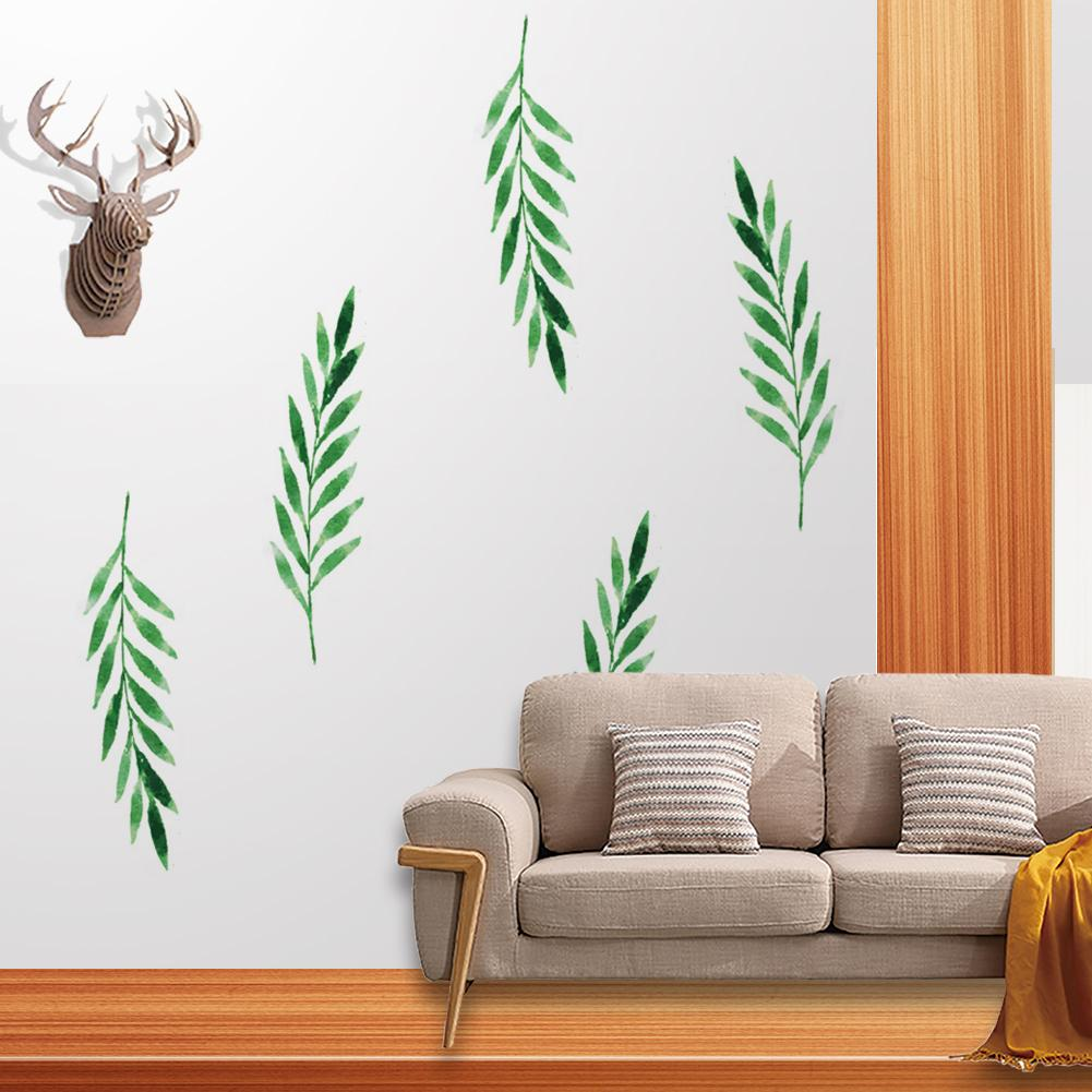 Home & Garden 6pcs/set Nordic Style Simplicity Green Leaf Wall Sticker Background Wall Decoration Sofa Bedroom Study Background Wall Sticker For Sale