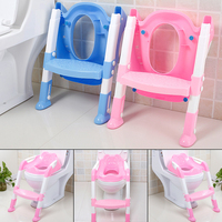 Toddler Boy Girl Potty Training Safety Seat Folding Travel Baby Potty Toilet Trainer With Adjustable Ladder Baby Accessories