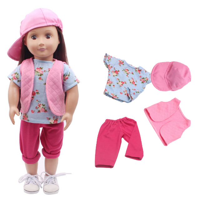new arrival Doll Clothes Wear fit 18 inch American Fashion Girl Children gift doll suit set new style 10 set doll clothes for 18 inch american girl handmade casual wear