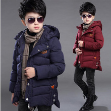 2017 New Arrival Boys hooded warm jackets Cotton Padded Coat Kids Parka Fleece Warm Thick Teenager Outwear Children winter coat
