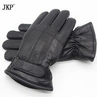 Hot Sale Men Sheepskin Gloves Genuine Leather Glove For Men Winter Outdoor Warm Fur Thickening Thermal