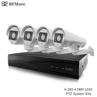 BFMore 4ch H 265 PTZ 4 0MP System Kits Outdoor Waterproof IP Camera 5 50mm 10X