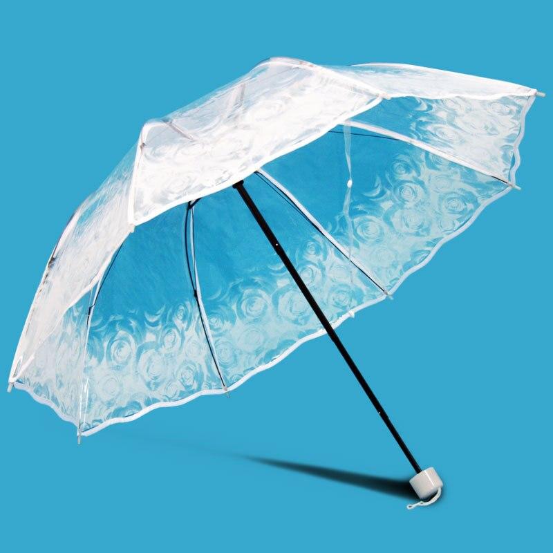 투명 플라스틱 PVC 나비 장미 꽃 패션 맑은 비오는 - 가정 용품 - 사진 3