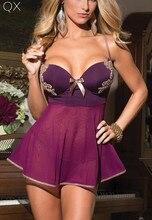 DL2 2017 Fashion Best Sale 3Colors Sexy Lingerie Lady's Diaphanous Pajama Lace Skirt Sexy Underwear Plus Size M XL 2XL 3XL