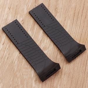 Image 2 - Acessórios de relógio pulseira de silicone macio para porsche p6750 pulseira de relógio masculino
