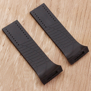 Image 2 - Watch Accessories Soft Silicone Strap For Porsche P6750 Mens Watch Strap