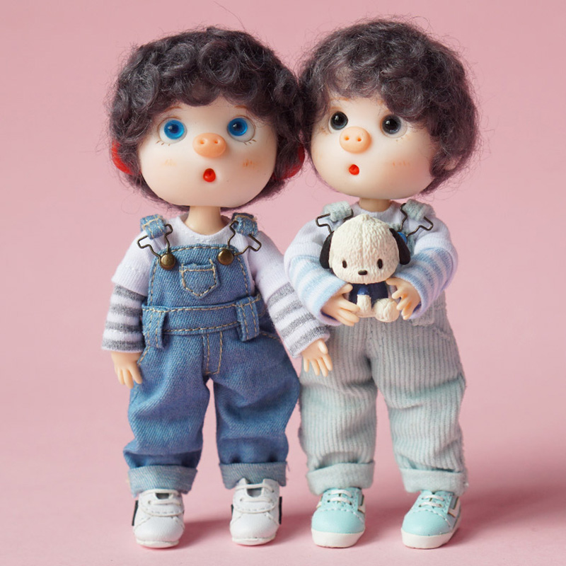 1pcs Doll Clothes Fashion Stripe T-shirt For Ob11 Shirt For Obitsu11,ob11,1/12 Bjd Doll Accessories Clothing