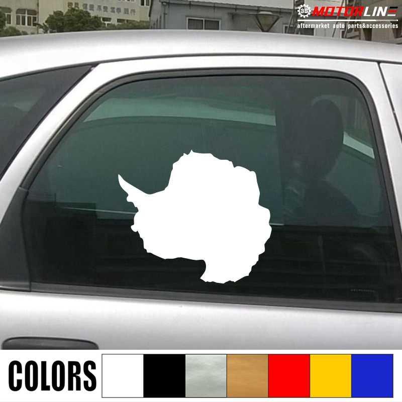 Антарктика карта контур переводная наклейка для автомобиля виниловая