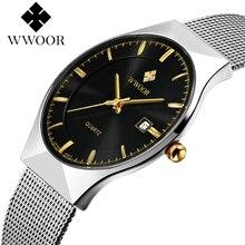 Hombre Original de Relojes de Marca de Acero Inoxidable Fecha Hombres Del Reloj Del Deporte Impermeable Casual Reloj Con Movimiento de Cuarzo Japón VJ32