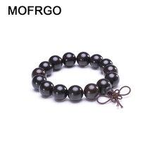 Natural Ebony Beads Bracelet Charm Buddhist Rosary Meditation Prayer Yoga Wooden Bracelet for Men Women Jewelry Dropshipping