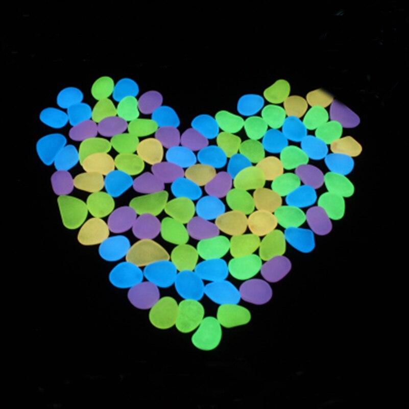 tangpan 100pcs blue glow in the dark fluorescent pebbles. Black Bedroom Furniture Sets. Home Design Ideas