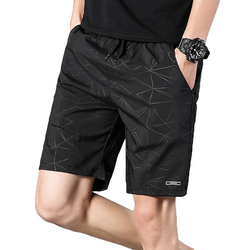 Pants Beach-Shorts Bermuda Quick-Drying Print-Pattern Men's Straight Summer Casual New-Fashion