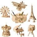 Robotime DIY 3D Holz Puzzle Spielzeug Montage Modell Spielzeug Flugzeug Frohe Gehen Runde Riesenrad Spielzeug für Kinder Lassen Verschiffen