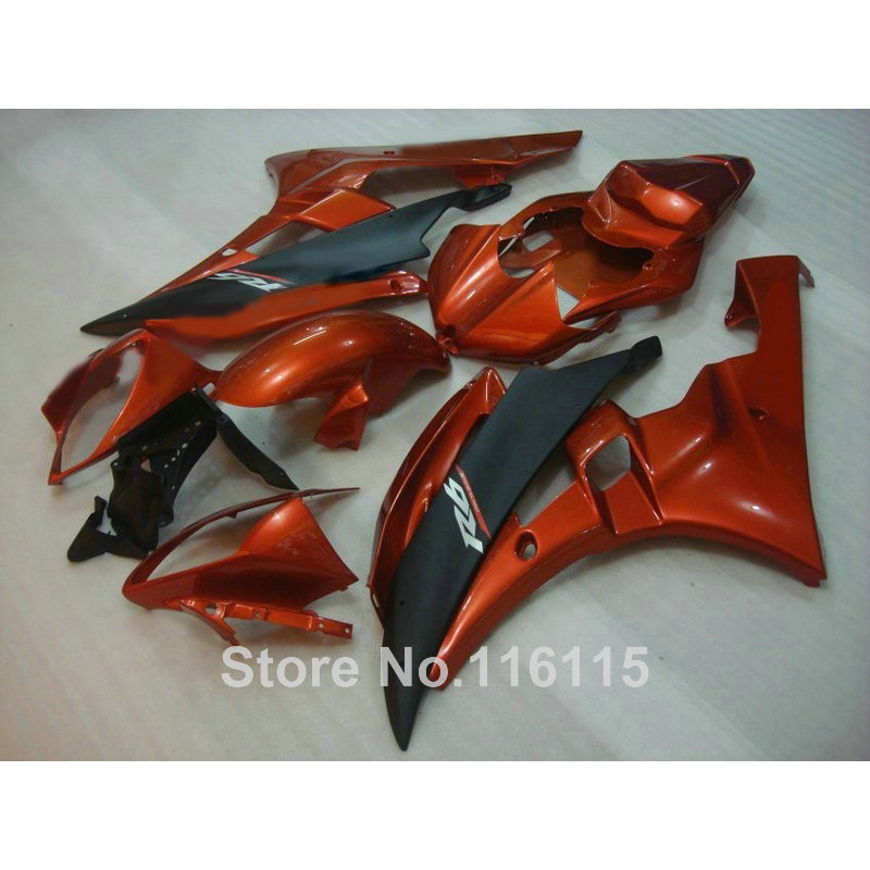 Injection molding ABS fairing kit for YAMAHA YZF R6 2006 2007 matte black brown high quality fairings set YZF-R6  06 07 RF24 high quality abs fairing kit for yamaha r1 2002 2003 red flames in black fairings set injection molding yzf r1 02 03 yz32