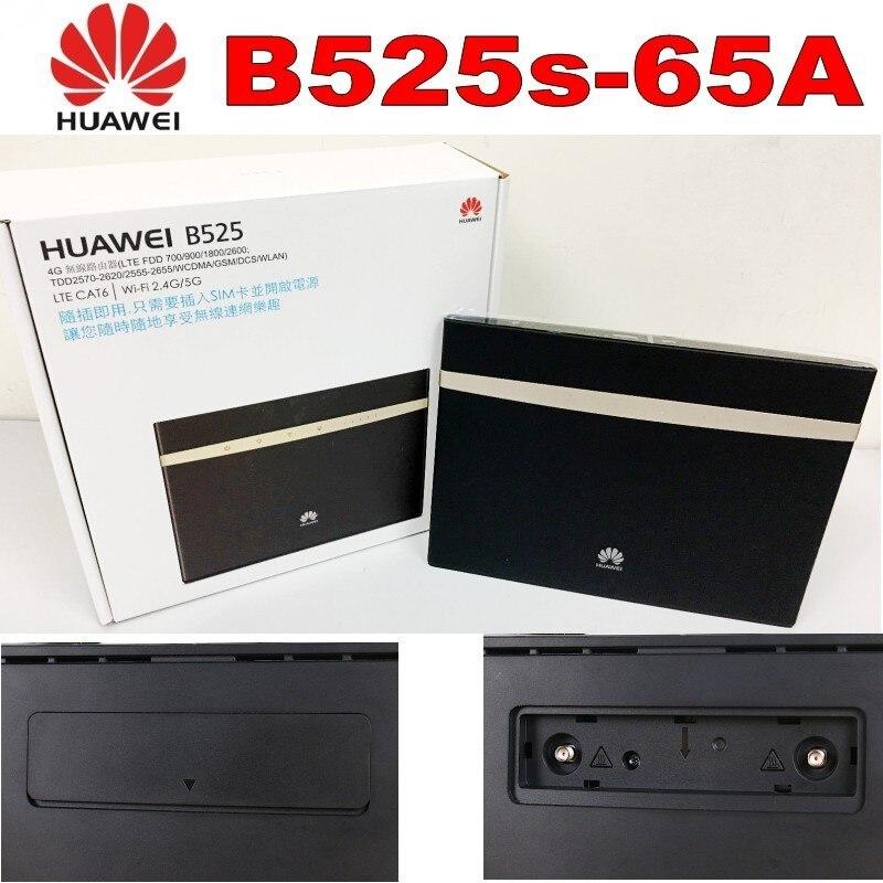 Huawei B525s-65a 4G LTE Cat6 Wireless Router plus 2pcs huawei antenna