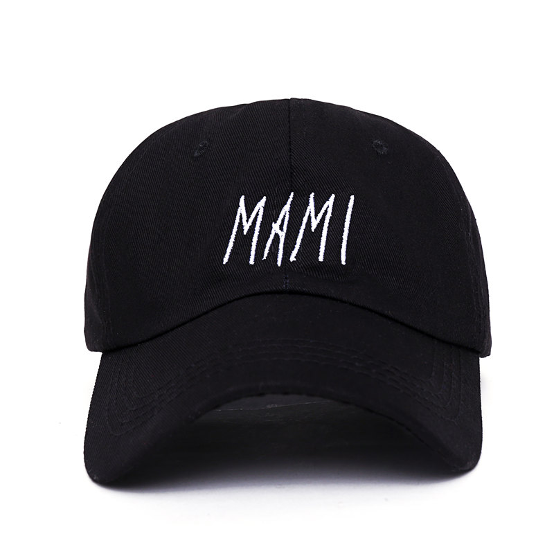 2017 new men women Hip hop MAMI Embroidered Low Profile Baseball Cap Hat black dad caps 2016 new korean children s pirate ship level for men and women baby embroidered baseball cap along the fringes of hip hop hat