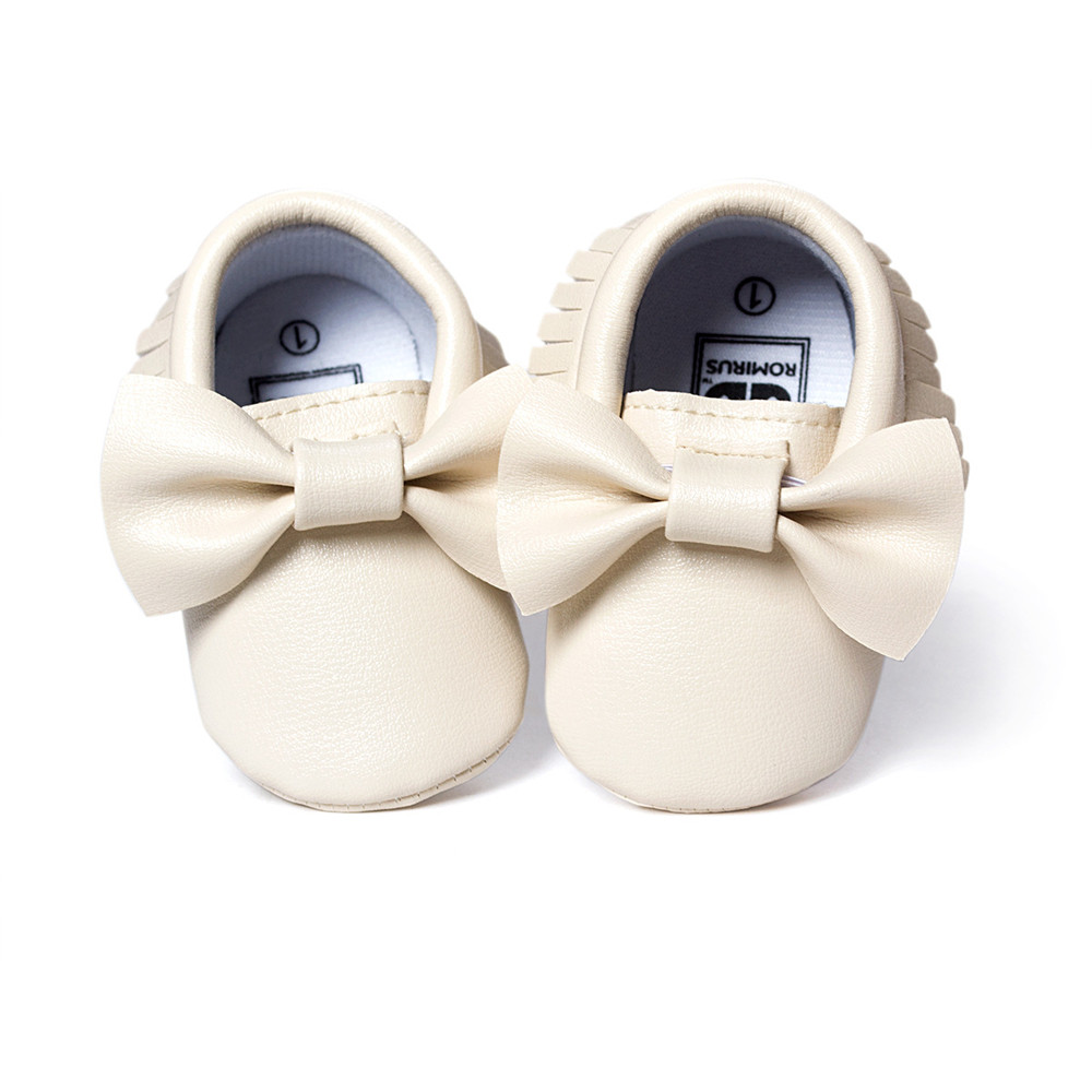 ROMIRUS Unisex Baby Girls Boy 0-18Months Crib Tassels Bowknot Shoes Toddler Sneakers Casual Non-slip Shoes