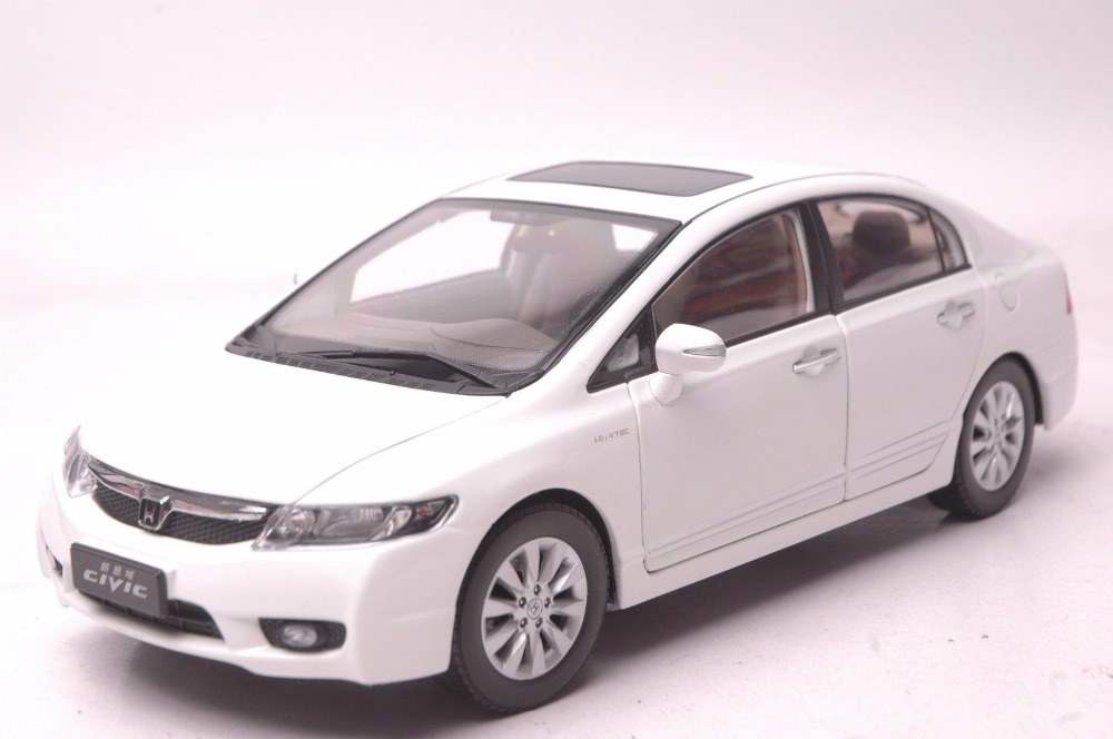 1:18 Diecast Model for Honda Civic 8 2009 White Alloy Toy Car Miniature Collection Gifts MK8 купить в Москве 2019