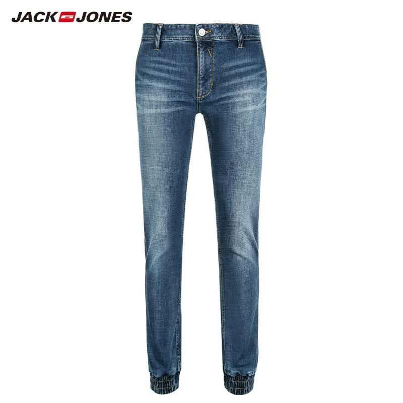JackJones męskie obcisłe jeansy ze streczem spodnie do biegania odzież męska 218332565