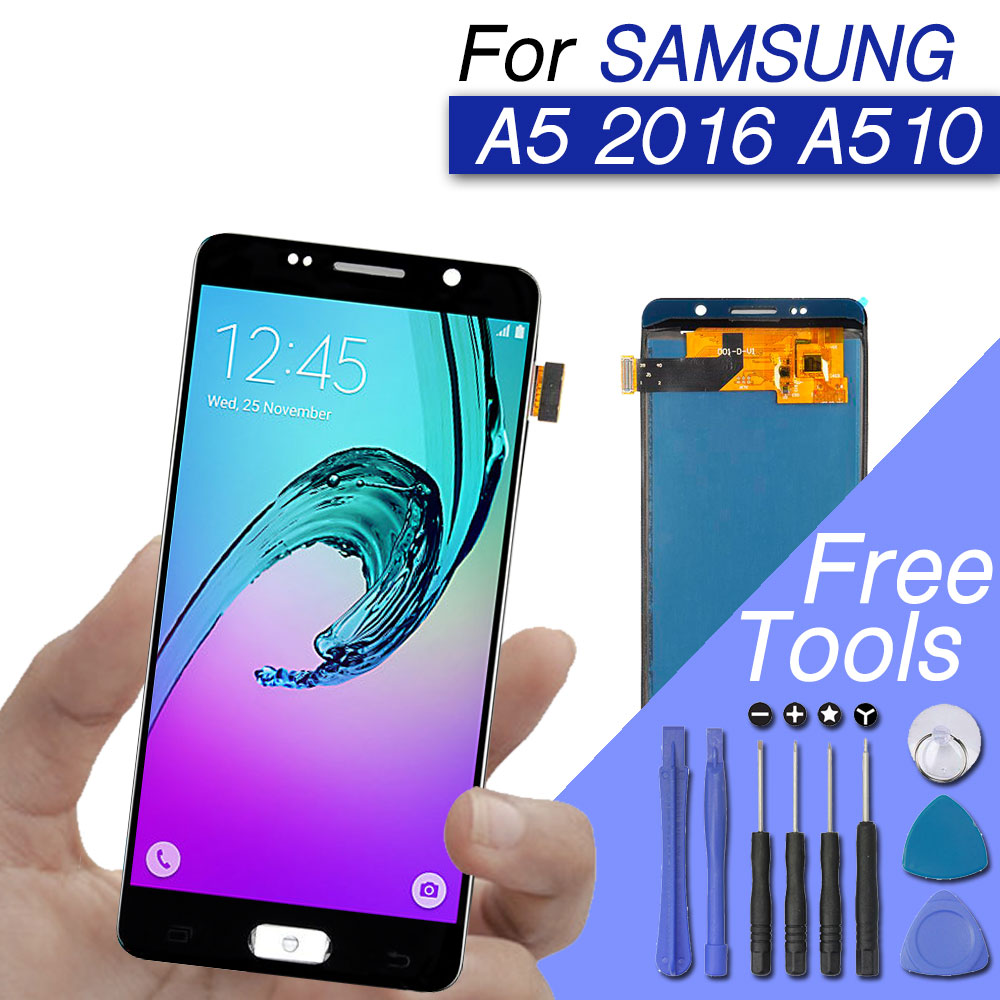PrepairP LCD screen for Samsung Galaxy A5 display screen digitizer assembly for galaxy A5 2016 A510 A510F A510M SM-A510F lcdPrepairP LCD screen for Samsung Galaxy A5 display screen digitizer assembly for galaxy A5 2016 A510 A510F A510M SM-A510F lcd