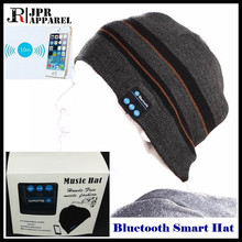 10p!Boy&Girl&Man&Women Wireless Bluetooth 3.0 Beanie Knitted Winter Hat Headset Hand-free Mp3 Mic Magic Music Smart Cap+Gift Box