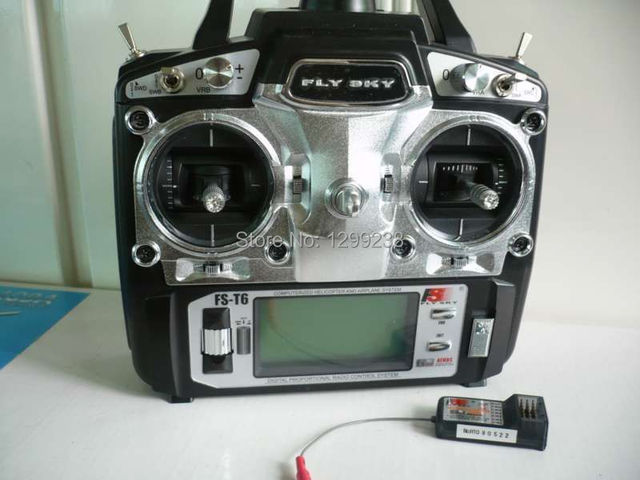 Fly Sky FS-T6 2.4G  AFHDS Digital Proportional 6 Channel Transmitter & Receiver Radio System w/ LED Screen Free Shipping