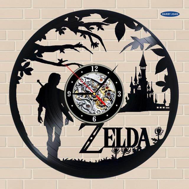 d5f32f8d6fa relogio de parede New Retro Vinyl Disc Clock Zelda Wall Clock Lovers 3D  Pendant Gift Duvar Saat Main Art Watches duvar saati