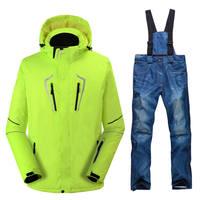 คนที่มีคุณภาพสูงชุดสกีตั้งกลางแจ้งสโนว์บอร์ดชุดกันน้ำWindproof