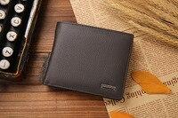 новый стиль горячие продажи 100% натуральная кожа застежка дизайн мужская кошельки с монета карман качество модный бренд кошелек кошелек для мужчины