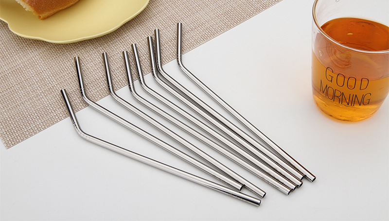 8 5 inch 304 Stainless Steel Straws Eco Friendly Drinking Straws for 20oz Mug Cup Cold