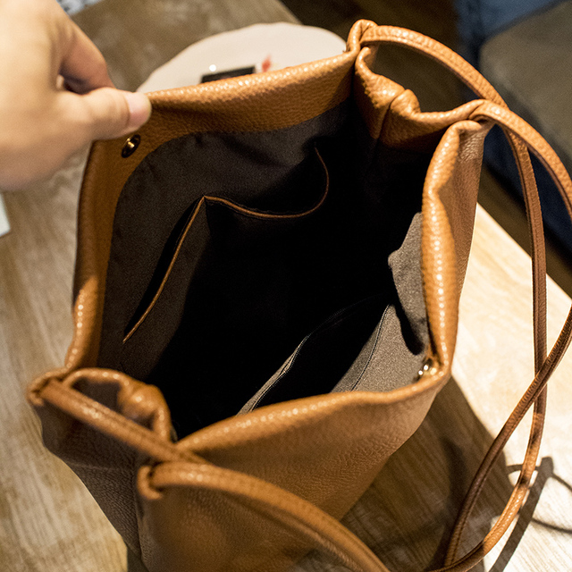 2016 New Fashion Bucket Bag Tassel Women Messenger Bag Big Women Shopping Bag Vintage Women Bag
