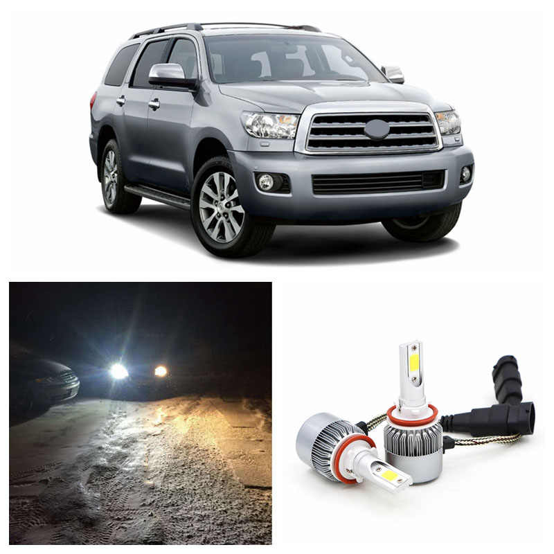 Edislight 72W 7600LM High Power Witte Auto Lampen Licht Dimlicht Led Koplamp Voor 2008-2016 Toyota Sequoia koplamp 6000K