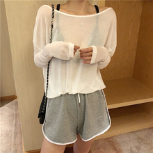 Mesh Sexy T-shirt Women Half Sleeve Backless Korean Style Solid O-neck Summer Casual Women Tops European Style Street Wear Tees
